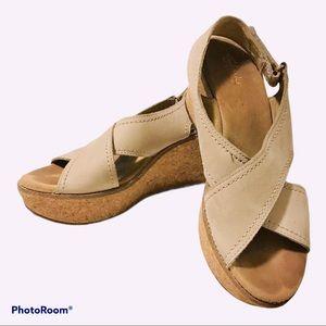 Clark's Wedge Cork Sandals size 9